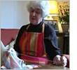 A mending granny