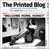 Detail of a front page of The Printed Blog